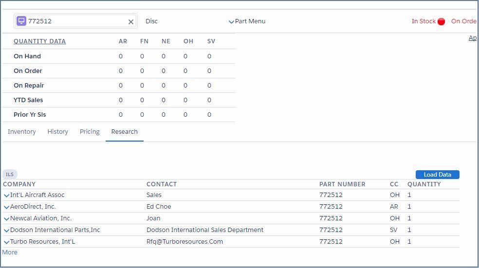 ILS Integration Screenshot
